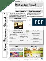 Faith Christian Church Burlington NC March 2015 News