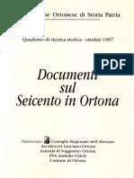 Documenti Sul Seicento in Ortona