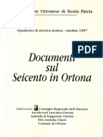 Documenti Sul Seicento in Ortona