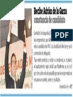 28-02-2015 Recibe Adrián de la Garza constancia de candidato