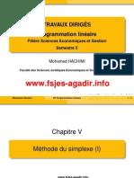 Td Chapitre 3 Méthode Du Simplexe (Algébrique) Sans Solutions