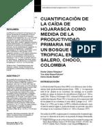 Cuantificacion De La Caida De Hojarasca