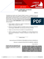 Carta de Compromiso Servicio Solidario 2015