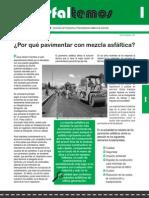PAVIMENTO CON MEZCLA ASFÁLTICA