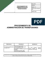 Procedimiento Administracion de Transfusiones