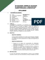 Syllabus Matematica III Arquitectura