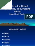 A Walk in the Desert Vocabulary