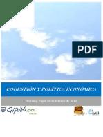 COGESTION Y POLITICA ECONOMICA