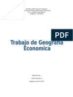 Trabajo de  Geografia Economica