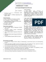 Resume - Hemmant Puri 2015