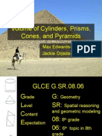 volume of cylinders, prisms, pyramids,