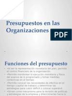 Presupuestos en Las Organizaciones