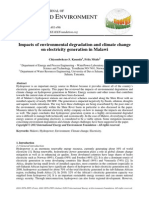 Impacts of Environmental Degradation and Climate Change on Electricity Generation in Malawi