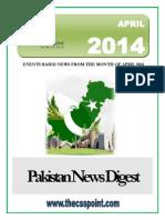 Pakistan News Digest April - 2014