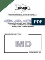 Manual Descriptivo Del Sistema de Acreditación