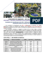 Listafinal1 Aprovados e Classificados Area CombatenteLogística-TécnicaAviação