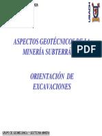 CAPITULO N°6 - ORIENTACIÓN EXCAVACIONES