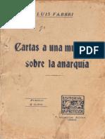 Luigi Fabbri - Cartas a una mujer sobre la anarquía