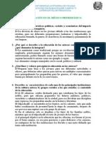 Preguntas sobre la educación en el México prehispánico.