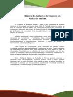 Matriz de Objetos de Avaliação Do PAS Segunda Etapa Subprograma 2013-2015 Revisão Linguística