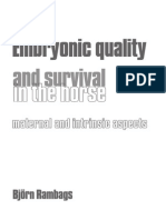 Embryonic Quality and Survival in the Horse