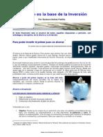 El Ahorro es la Base de la Inversion - Gustavo Ibañez Padilla