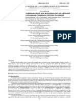 Determination of Corrosion Rate and Remaining Life of Pressure Vessel Using Ultrasonic Thickness Testing Technique