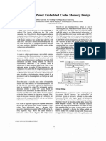 A  Fast Low Power Embedded Cache Memory Design