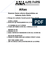 Altas Nuevos Items Feb 28, 2015