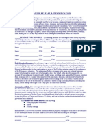 2015 Roystone waiver and release form