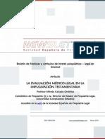 Newsletter Sociedad Española de Psiquiatría Legal  Marzo 2015