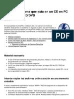 Instalar Programa Que Esta en Un CD en Pc Sin Lector de CD Dvd 7500 Luey18