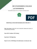 Ugc Minor Research Project-Sandeep