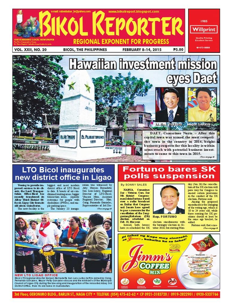 Bikol Reporter February 8 - 14 Issue | Epistemology | Business