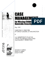 Case Management Missing Children Homicide Investigation
