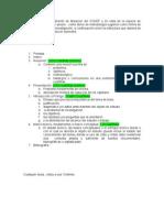 Estructura del trabajo Final Tercer Semestre