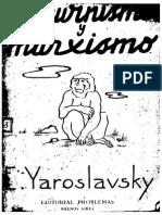 Darwinismo y Marxismo - Yemelyan Yaroslavsky