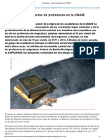 """""""Vergonzosos"""", Salarios de Profesores en La UNAM"""