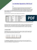 Tips Konversi Attribut Spasial Ke MS Excel