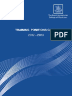 2012-2013 RACP Training Positions Guide