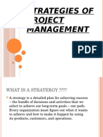 Strategies of Project Management