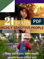 21 traits Highly Sensitive