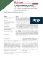 The Highly Sensitive Brain an FMRI Study