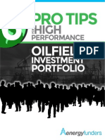 6 Pro Tips for a High Performance Oilfield Investment Portfolio
