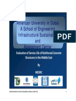 Evaluation of Service Life of Reinforced Concrete Structures in the Middle East