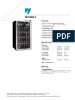 Danby Free Standing Beverage Center - DBC120BLS - Specifications