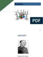 History of behavior science