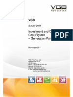 Investment and Operation Cost Figures - Electricity Generation VGB 2011-2011-912-0054-01-E