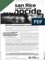 Susan Rice's Blind Spot for Genocide