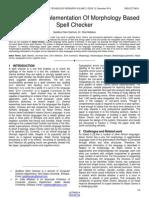 Design and Implementation of Morphology Based Spell Checker